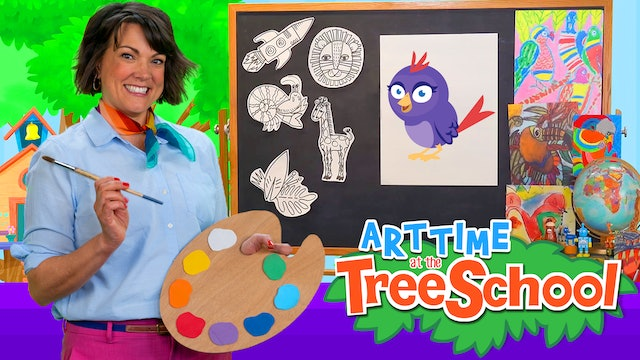 Art Time at the TreeSchool | Abigail Nightingale