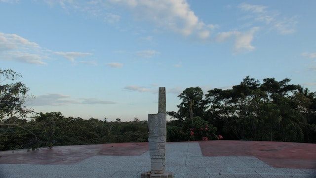 3. (TL) Sacred Site Statue Center, Clouds and Trees