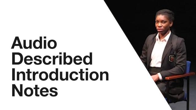 Audio Description: Chewing Gum Dreams - Introduction Notes