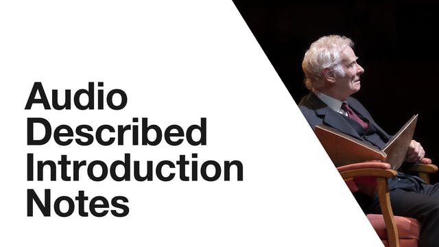 Audio Description: Under Milk Wood - Introduction Notes
