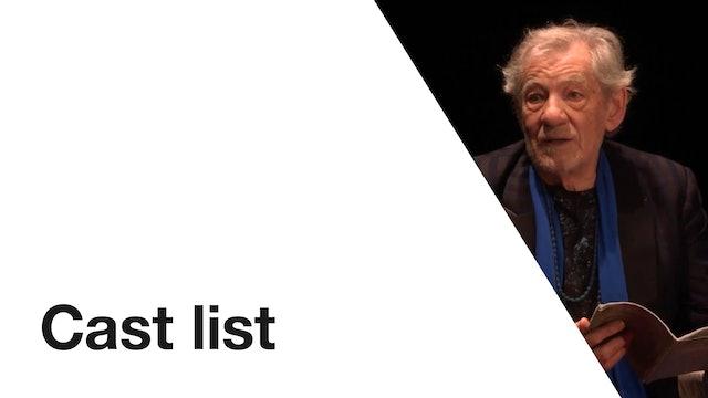 Ian McKellen on Stage: Cast List