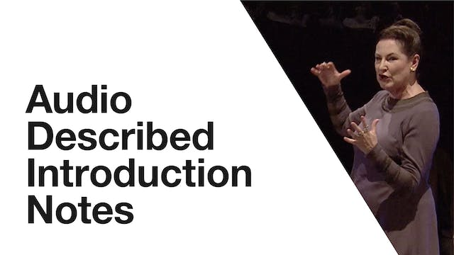 Coriolanus: Audio Described Introduction Notes