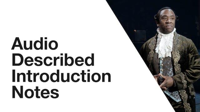 Amadeus: Audio Described Introduction Notes