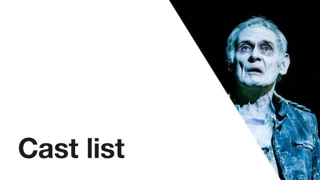 Hamlet: Cast List