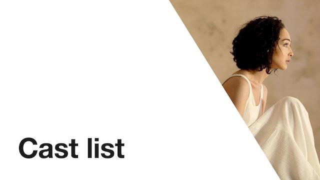Phèdre: Cast List