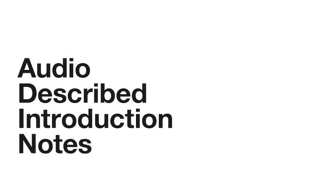 Audio Description: Medea - Introduction Notes