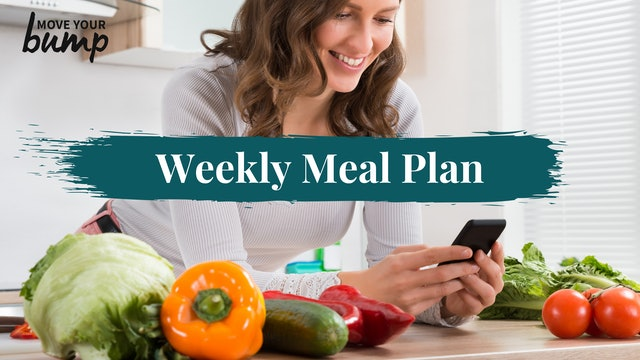 Meal Plan Week 34