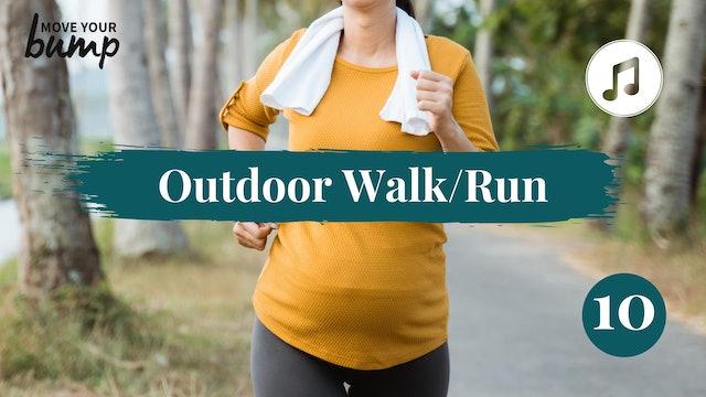 Outdoor Walk/Run Labor Training Cardio 10