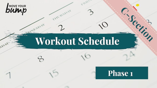 C-Section Phase 1 Schedule