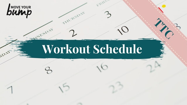 NEW! TTC Workout Schedule