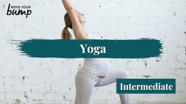 All Trimesters: Pregnancy Yoga Flow (Intermediate)