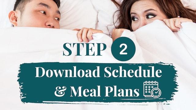 Download Schedule & Meal Plan