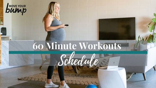 I Want 60 Minute Workouts! Schedule