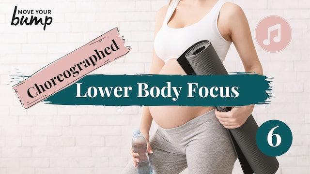 All Trimester Strength Choreo Lower Body Focus  (Advanced) 06
