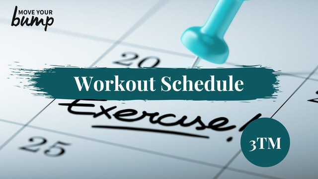 Workout Schedule (3TM)