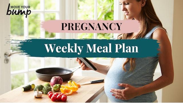 Pregnancy Meal Plan Week 12