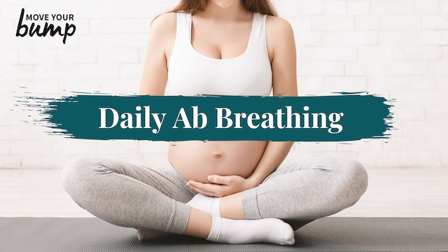 Daily Pregnancy Abdominal Breathing Routine