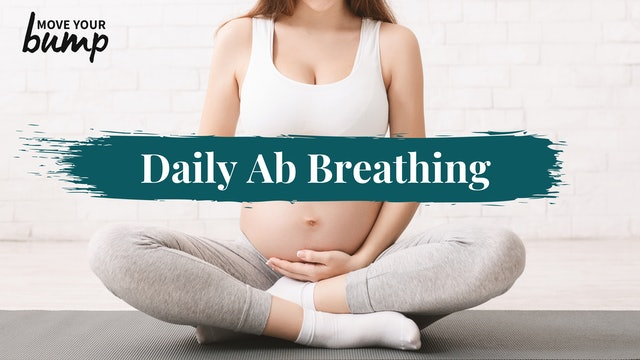 Daily Pregnancy Abdominal Breathing Routine