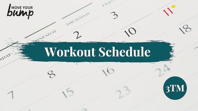 NEW! 3TM Workout Schedule