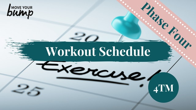 4TM Phase Four Schedule