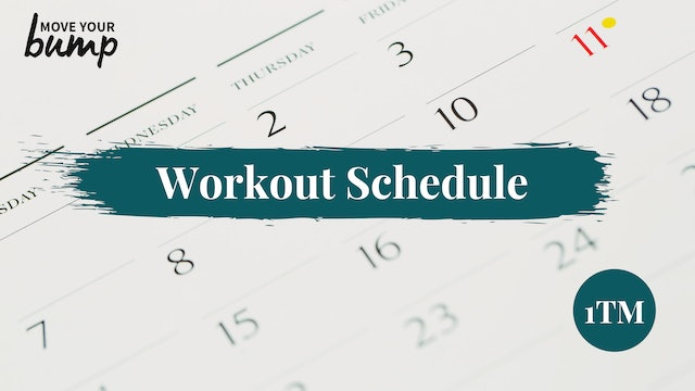NEW! 1TM Workout Schedule