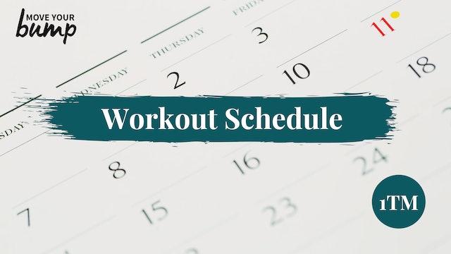 NEW! 1TM Workout Schedule