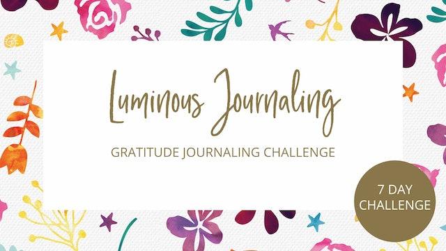 Day 1 - 7 Day Gratitude Journal Challenge