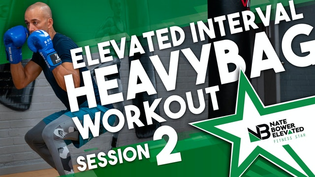 Elevated Heavy Bag Interval Series Workout 2 - No music