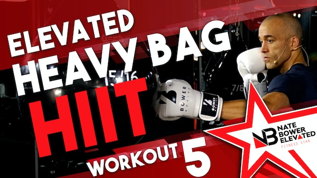 Elevated Heavy Bag HIIT Workout 5 - No music