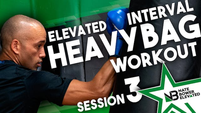 Elevated Interval Heavy Bag Workout 3
