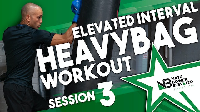 Elevated Heavy Bag  Interval Boxing Workout 3 - No Music