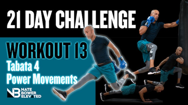 21 Day Challeng Day 13-4 Exercises Tabata