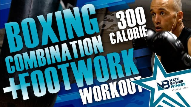 300 Calorie Boxing combo and footwork...