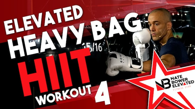 Elevated Heavy Bag HIIT Workout 4 no music