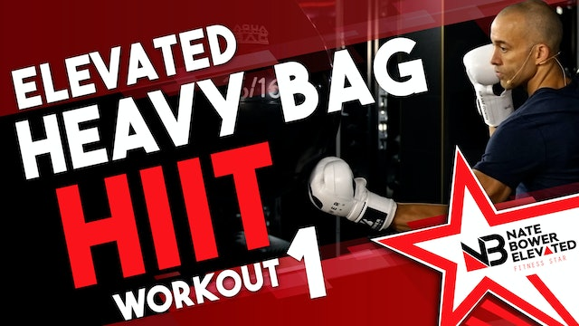Elevated Heavy Bag HIIT Workout 1 - no music