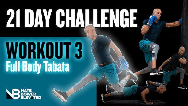 21 DAY CHALLENGE Day 3-Tabata