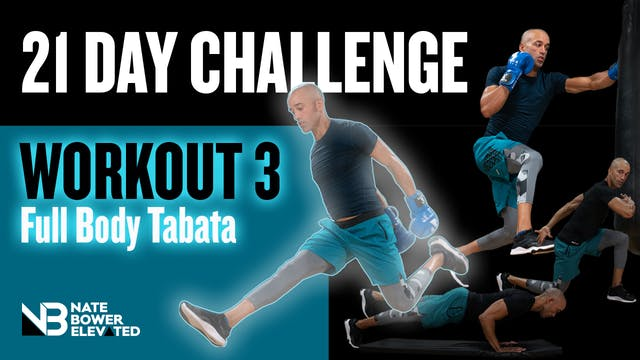 21 DAY CHALLENGE Day 3-Tabata