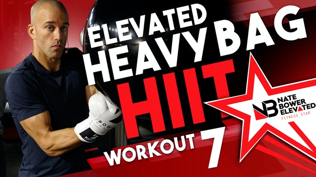 Elevated Heavy Bag HIIT Workout 7