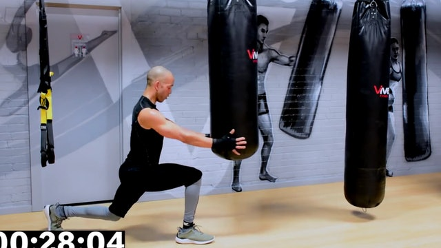 30 Minute Boxing Heavy Bag HIIT Workout