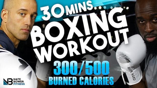 30 MINUTE 300-500 CALORIES BURNED BASIC BOXING WORKOUT-NateBowerElevated