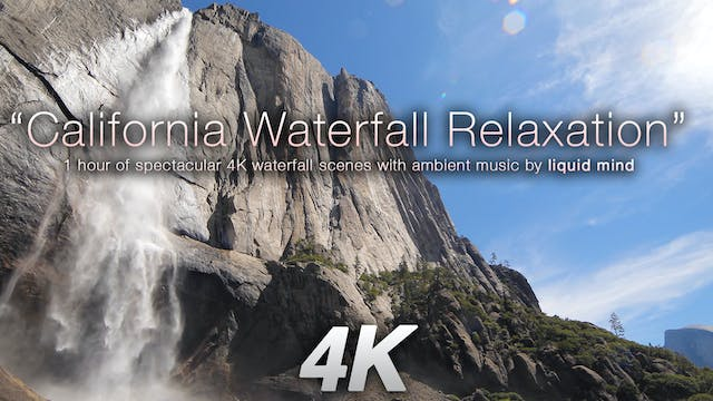 California Waterfall Relaxation w MUS...