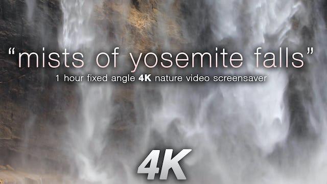 Mists of Yosemite Falls 1HR Static Nature Scene