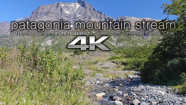 Patagonian Mountain Stream 1 HR Nature Scene - 4K