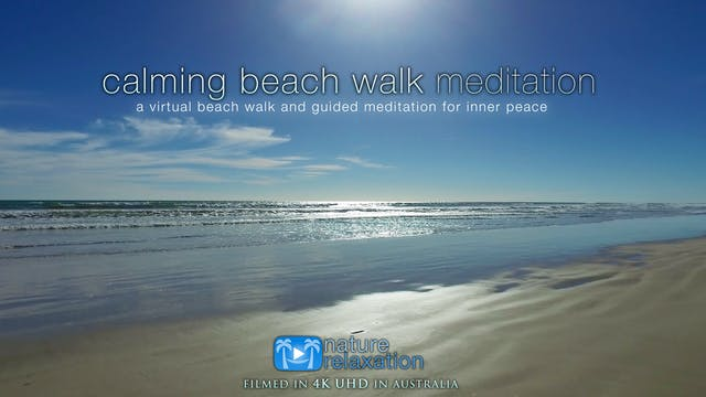 Calming Beach Walk & Meditation + Mus...