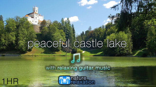 Peaceful Castle Lake w Music Croatia ...