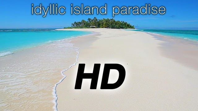 Idyllic Island Paradise 2 HR Static Nature Relaxation Video