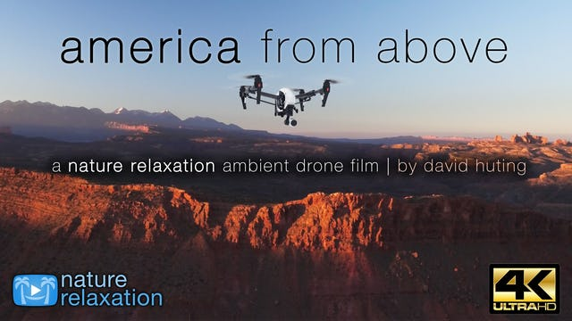 America From Above 1HR Ambient Drone Film w Music