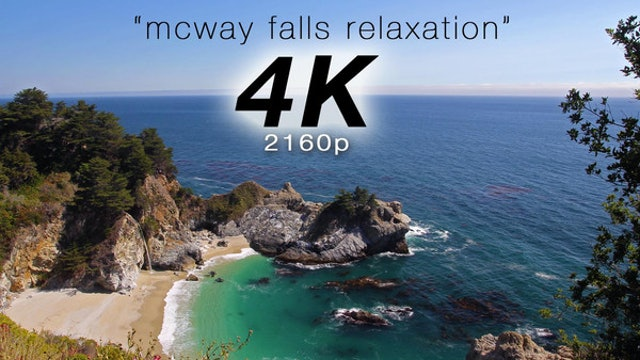 McWay Falls Relaxation 1 HR Dynamic Video Big Sur