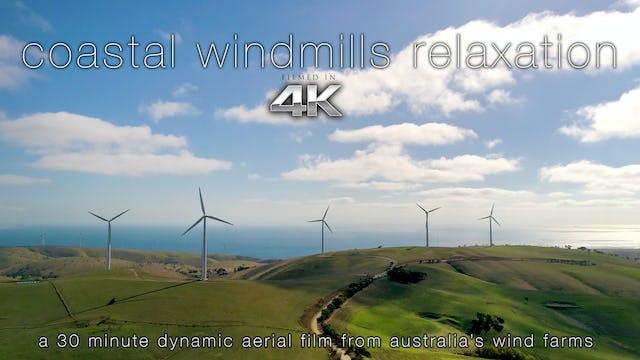 Coastal Windmills 30 Min Dynamic Aerial Film