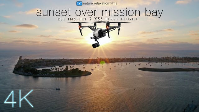 Sunset over the Mission Bay - 8 Minute Drone Video w/ Music